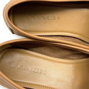 Coach Shoes - Coach Fredrica Tan Driving Loafers Flats Sz 7
